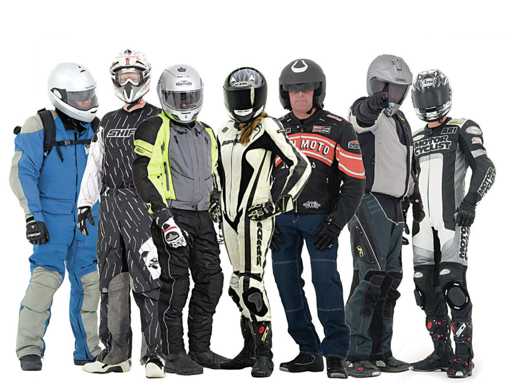 Be safe in riding gear