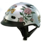 DOT Vented Ladies Silver Lady Rider Shorty