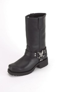WOMENS BIKER BOOTS WITH EAGLE AT ANKLE