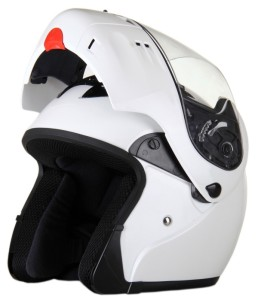 DOT Rodia Full Face Pearl White Modular Helmet