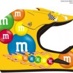 M&M Licensed Yellow MotoX Motorcycle Helmet
