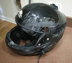 scractched up helmet