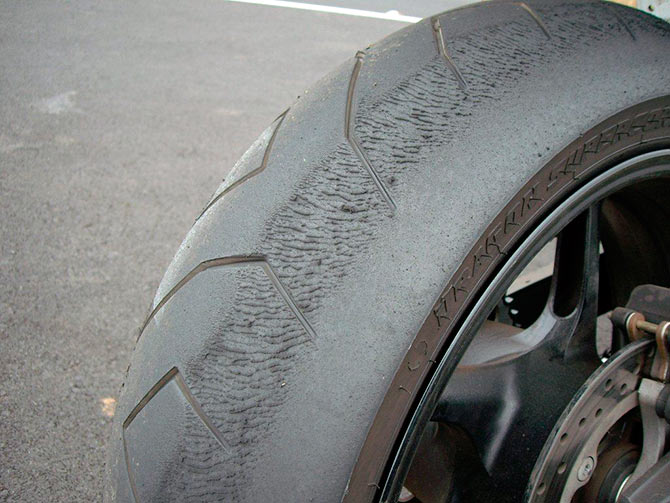 Motorcycle Tire Wear