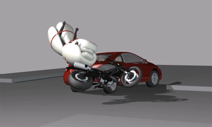 Motorcycle Airbag with Ejection Seat Idea