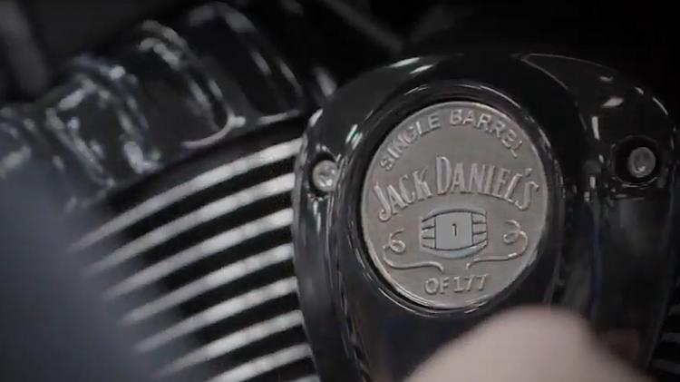 indian and jack daniel' co-branded motorcycles